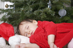Santa sleeping Stock Photography