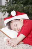 Santa sleeping Royalty Free Stock Photography