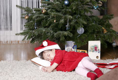 Santa sleeping Stock Photos