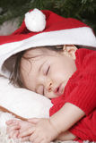 Santa sleeping Royalty Free Stock Image