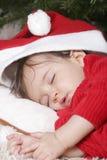 Santa sleeping royalty free stock image