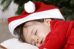 Santa sleeping Stock Photo