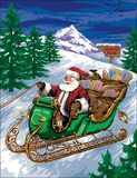 Santa in Sleigh Royalty Free Stock Images