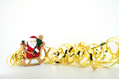 Santa in sleigh Stock Photography
