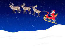 Santa with sleigh Royalty Free Stock Image