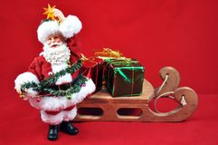 Santa with sleigh Royalty Free Stock Images