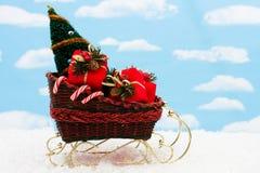 santa sleigh Arkivbild