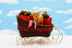 santa sleigh Royaltyfri Fotografi