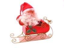 Santa and Sleigh. Santa in a sleigh over white Royalty Free Stock Photo