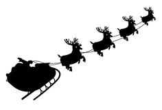 santa sleigh Arkivbilder