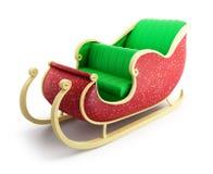 Santa sleigh. On white background Stock Photos