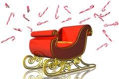 Santa sleigh. 3D royalty free stock images