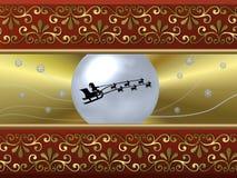 Santa Sleigh background Stock Photo