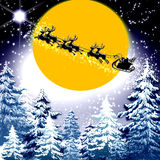 Christmas magic Santa sleigh Royalty Free Stock Photography
