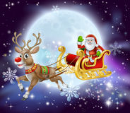 Santa sleigh Stock Images