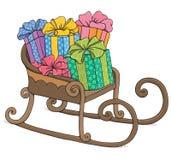 Santa sleigh Royalty Free Stock Image