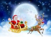 Santa Sleigh Header Fotos de archivo libres de regalías