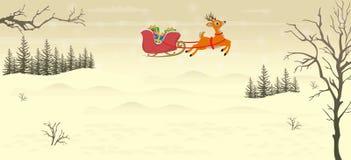 Santa Sleigh Illustration ilustração stock