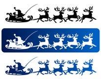 Santa Sleigh Reindeer stock illustration