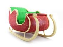 Santa sleigh. On white background Stock Image
