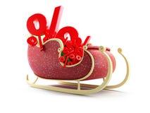 Santa sleng percent Stock Photography