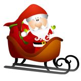 Santa in slitta dei giocattoli 2 illustrazione vettoriale