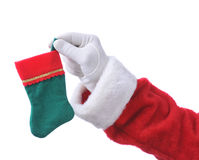Santa with Small Stocking Royalty Free Stock Photos