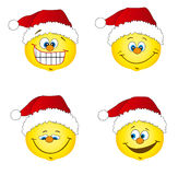 Santa smile icons Royalty Free Stock Photography
