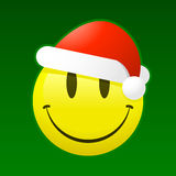 santa smiley Royaltyfria Bilder