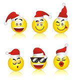 Santa smiley Royalty Free Stock Images
