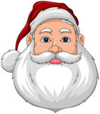Santa Smiling Face front Royalty Free Stock Image