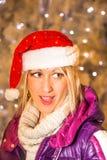 santa smiling woman στοκ εικόνα με δικαίωμα ελεύθερης χρήσης