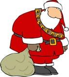Santa smutny ilustracji