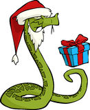 Santa snake Stock Photo