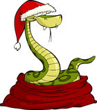 Santa snake. On a white background, vector Royalty Free Stock Image