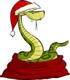 Santa snake Royalty Free Stock Image