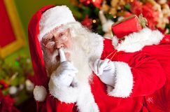 Santa sneaking in Royalty Free Stock Photo