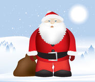 Santa in snow Stock Photos