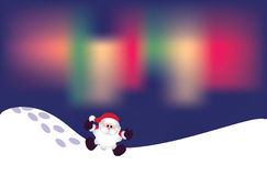 Santa on snow Royalty Free Stock Images