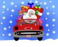 Santa in the snow Stock Photos