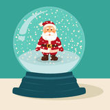 Santa Snow Ball Vector Illustration Royaltyfri Foto