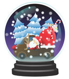 Santa snow dome Stock Photography