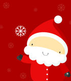 Santa and snowflake Stock Photos