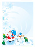 Santa snowman. New year 2010 Stock Photos