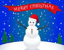 Santa Snowman Stock Photo