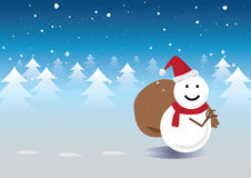 Santa Snowman stock abbildung