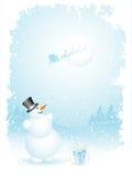 santa snowman royaltyfri illustrationer