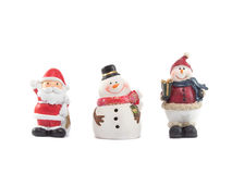 Santa Snowman Immagine Stock