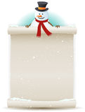 Santa Snowman Background Royalty Free Stock Images