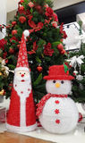 Santa and snowman christmas Royalty Free Stock Images